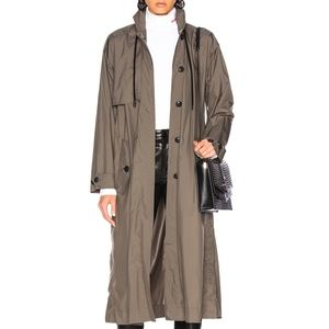 Rag & Bone Olive Green Trench Coat size Large NEW